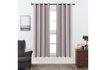 (W52 x L84, Griege) - Shade Insulation Curtain For Bedroom Living Room Balcony Curtain,Griege,130cm x 210cm ,1 Panel