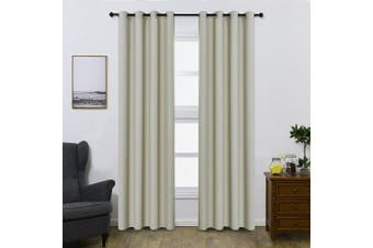 (W52 x L95, Beige) - Shade Insulation Curtain For Bedroom Living Room Balcony Curtain,Beige,130cm x 240cm ,1 Panel