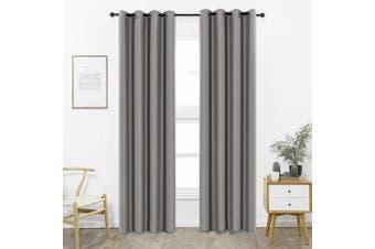 (W52 x L95, Dark Grey) - Shade Insulation Curtain For Bedroom Living Room Balcony Curtain,Dark Grey,130cm x 240cm ,1 Panel