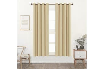 (W52 x L84, Ivory) - Shade Insulation Curtain For Bedroom Living Room Balcony Curtain,Ivory,130cm x 210cm ,1 Panel