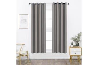 (W52 x L84, Dark Grey) - Shade Insulation Curtain For Bedroom Living Room Balcony Curtain,Dark Grey,130cm x 210cm ,1 Panel