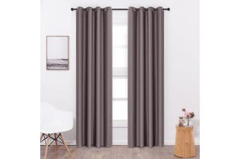 (W52 x L95, Dark Coffee) - Shade Insulation Curtain For Bedroom Living Room Balcony Curtain,Dark Coffee,130cm x 240cm ,1 Panel