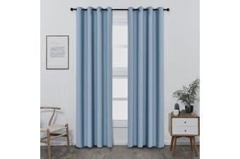 (W52 x L95, Celeste) - Shade Insulation Curtain For Bedroom Living Room Balcony Curtain,Celeste,130cm x 240cm ,1 Panel