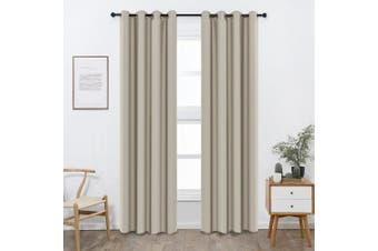 (W52 x L95, Sandy) - Shade Insulation Curtain For Bedroom Living Room Balcony Curtain,Sandy,130cm x 240cm ,1 Panel