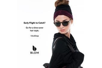 (Charcoal & Lava) - BLOM Multi Headband for Sports or Fashion, Yoga or Travel. Happy Head Guarantee - Super Comfortable. Designer Style & Quality
