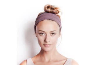 (Winter Dusk & Charcoal) - BLOM Original Multi-Style Headband. Perfect for Yoga or Fashion, Workout or Travel. Happy Head Guarantee. Super Comfortable. Designer Style & Quality.