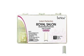 (Natural) - BeYou Natural Royal Salon 500 Artificial Fake False Nail Tips, 10 Sizes, 25010 for Nail Salon Nail shop