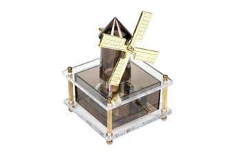 Windmill Gold Tone Acrylic Musical Figurine Plays Tune Memory
