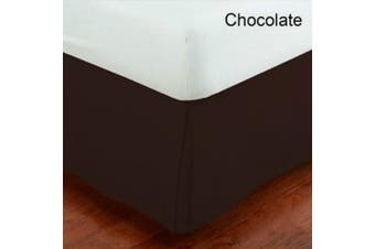 (King, Brown/Choclate) - MK Collection King Size Solid Brown Bed Skirt New