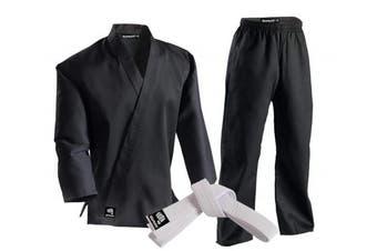 (000, Black) - Zephyr Martial Arts Karate Gi Student Uniform - White Belt