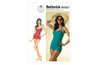 Butterick Patterns B6067 Misses' Swimsuit Sewing Template, Size E5 (14-16-18-20-22)