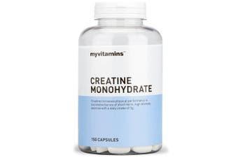 Creatine Monohydrate (150 Capsules) - Myvitamins