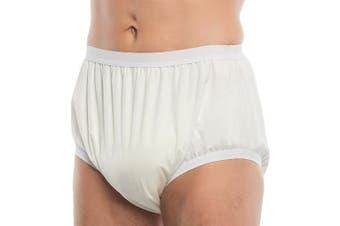 (White, Unisex 54) - Suprima 1204 PU Unisex Washable Pull-On Incontinence Briefs (White, Unisex 54)