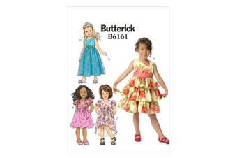 Butterick Patterns B6161CL0 Childrens's/Girls' Dress Sewing Template, CL (6-7-8)