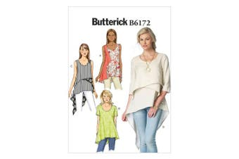 Butterick Patterns B6172A50 Misses' Top and Tunic Sewing Template, A5 (6-8-10-12-14)