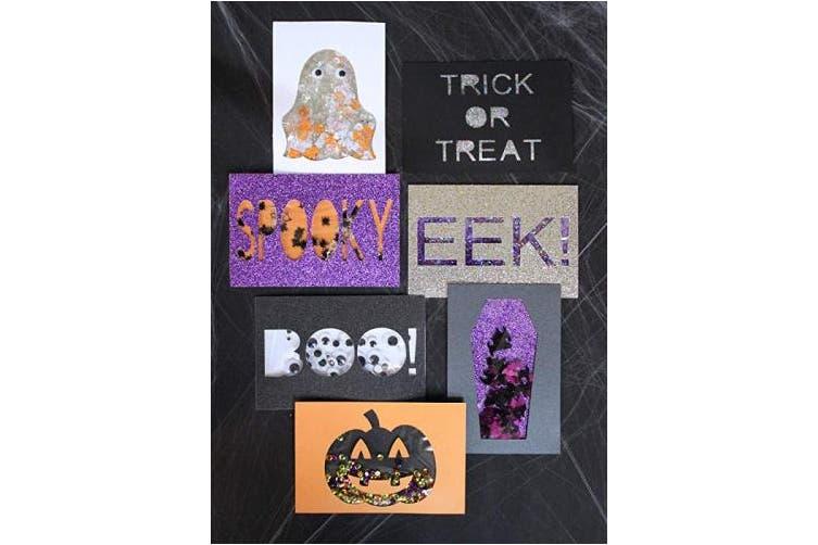 (Black) - MirriSparkle Black Glitter Cardstock Paper 22cm x 28cm - 16 PT/280gsm - 10 Sheets from Cardstock Warehouse