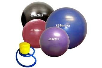 (65cm, Green) - bintiva Anti-Burst Fitness Exercise Stability Yoga Ball