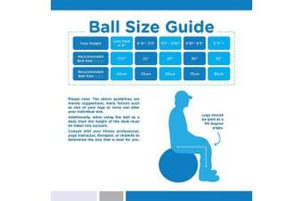 (55cm, Red) - bintiva Anti-Burst Fitness Exercise Stability Yoga Ball