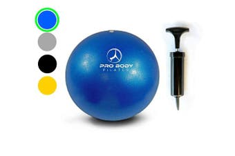 Mini Exercise Ball with Pump - 23cm Bender Ball for Stability, Barre, Pilates, Yoga, Core Training and Physical Therapy