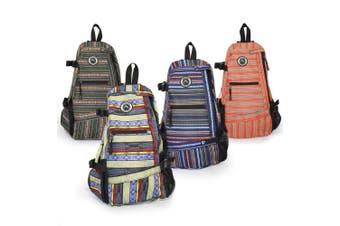 (Purple Stripe) - Aurorae Yoga Mat Bag. Multi Purpose Cross-body Sling Back Pack. Mat sold separately.