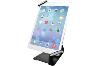 (Security grip and stand; 7-10 inch tablets) - CTA Digital Universal Anti-Theft Security Grip with POS Stand for Tablets - iPad Air 2, iPad mini 4, Galaxy Tab, Note 10.1, 7–25cm Tablets (PAD-UATGS)