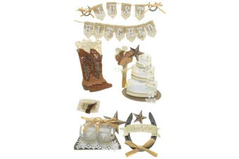 JoleesJolee's Boutique Dimensional Stickers-Western Wedding, Other, Multicoloured