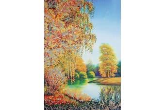 Bead Embroidery kit Autumn Charm Beaded cross stitch Landscape Needlepoint Handcraft Tapestry kit