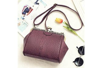(Pt4) - Abuyall Retro Kiss Lock Pu Leather Chains Minimalist Crossbag Bag Diamonds Appliques Shoulder Purse Handbag Totes Bag Satchel for Ladies M Pt4