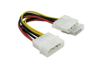 Bluecharge Direct 2 Way 4 pin PSU Power Splitter Cable LP4 Molex 1 to 2
