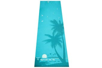 """(South Beach) - Aurorae Printed Extra Thick 5mm and 72"""" Long Premium Eco Safe Yoga Mat with Non Slip Rosin"""