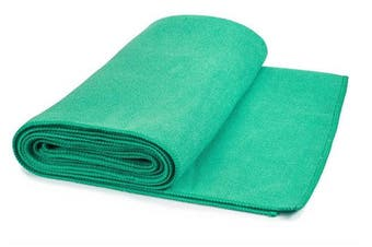 "(Turquoise) - Hot Yoga Mat Towel Non-Slip, Extra-Absorbent Microfiber Anti-Bacterial Skidless Bikram Towels Cover for Exercise Workout, Fitness and Pilates or Beach Picnic Towel (24"" x 72"")"