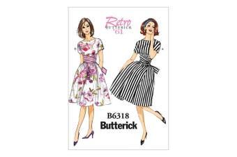 Butterick Patterns B6318 Misses' Tie-Waist Dress, Size A5 (6-8-10-12-14)