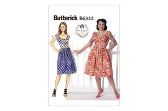 Butterick Patterns B6322 Misses' Ruched Corset-Style Dress, Size A5 (6-8-10-12-14)