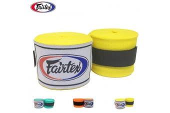 (460cm , Yellow) - Fairtex Elastic Cotton Handwraps HW2-120 and 460cm - Full Length Hand Wraps. Many Colours