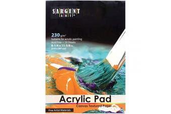 Sargent Art 23-5025 Acrylic Pad Canvas Textured Paper