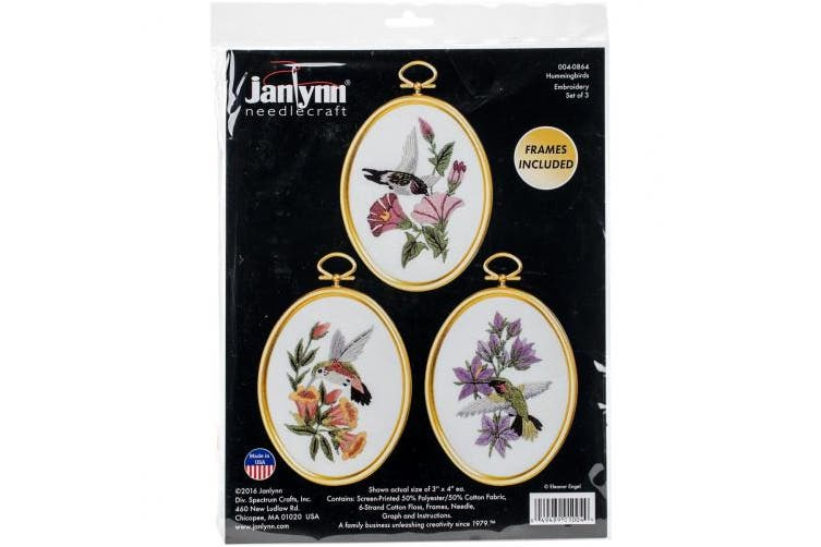 Janlynn 004-0864 Hummingbirds Cross Stitch Supplies