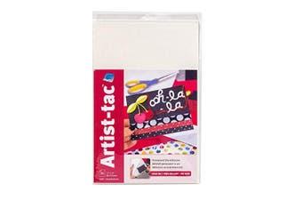 (28cm  x 43cm ) - Grafix Artist-Tac AdhesivePerm 11x 17, 28cm x 43cm , White