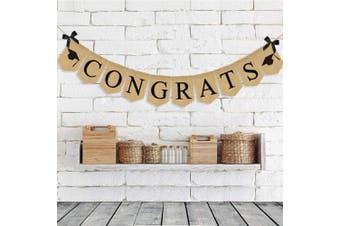 Vintage Jute Burlap Congrats 2018 Graduation Party Banners Decoration