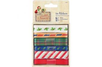 Papermania Letter To Santa Ribbon 6/Pkg