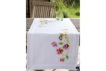 Vervaco Table Runner Stamped Embroidery Kit 41cm x 100cm