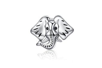 Guardian Elephant Popular Genuine 925 Sterling Silver Forest Guardian Elephant Beads Charm fit Bracelets Bangles Jewellery Making SCC173