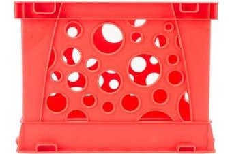 (Red) - Storex Micro Crate 17cm x 15cm X4.20cm