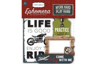 Work Hard Play Hard Ephemera Cardstock Die-Cuts