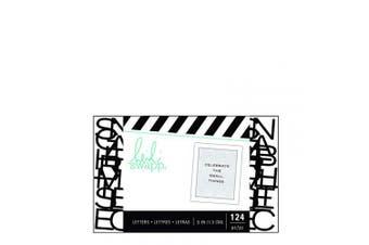American Crafts Heidi Swapp Letterboard 124 Piece Alphabet Sans Serif Wide Black
