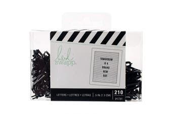 American Crafts Heidi Swapp Letterboard 210 Piece Alphabet Sans Serif Narrow Black