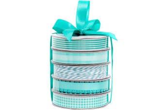 Spring Teal Premium Ribbon & Twine Pack - American Crafts