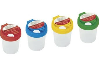 Fountain 1048899 Water Cup (with Lid, Height 9 cm Diameter 8 cm Assorted Colours