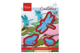 Marianne Design Creatables Tiny's Frogs and Dragonfly, Metal, Blue, 13 x 9.5 x 0.5 cm