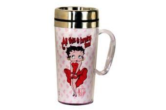 Betty Boop Brains Insulated Travel Mug, White by Betty Boop