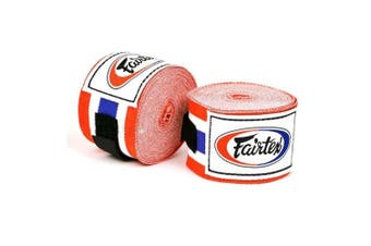 (300cm , Thai Flag) - Fairtex Elastic Cotton Handwraps HW2-120 and 460cm - Full Length Hand Wraps. Many Colours